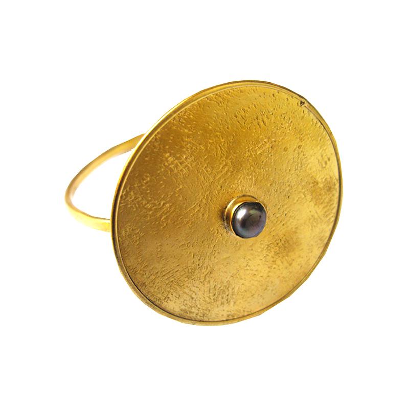 anillo maxi de bronce
