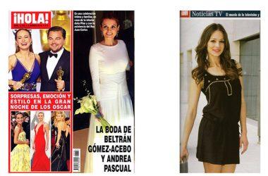 Vestido de seda con incrustaciones metálicas. Eva Gonzalez Revista Hola