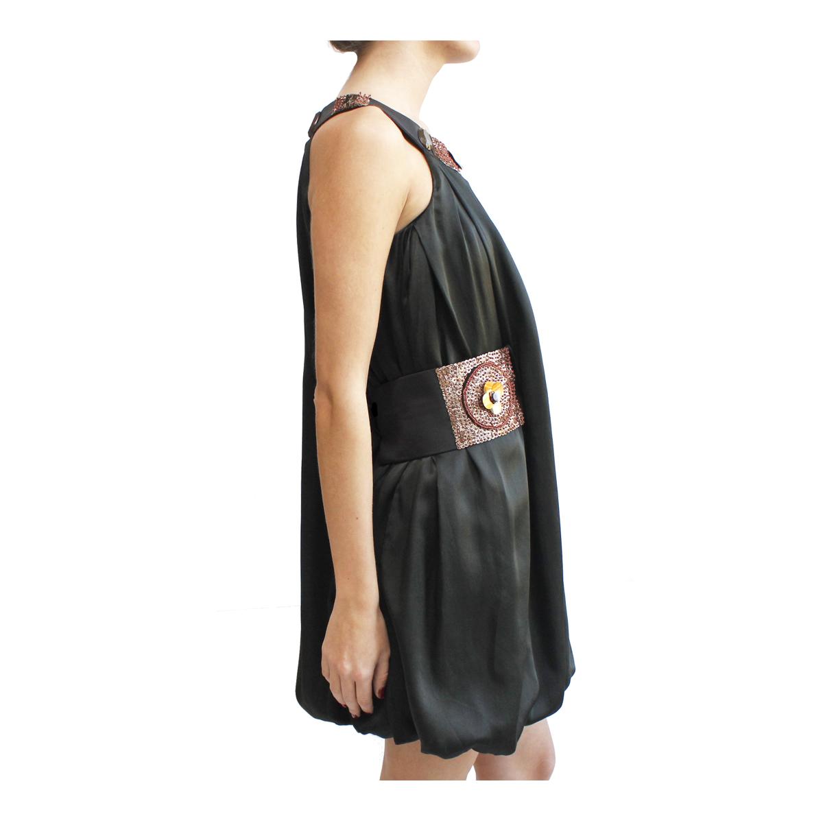 kioto Dress negro espalda